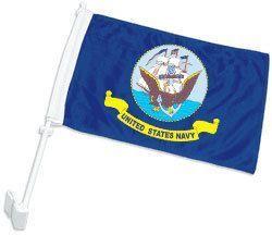 Double-Sided Navy Car Flag