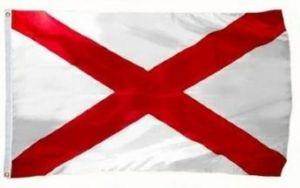 Economy Printed Alabama State Flags
