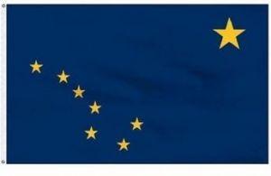 Economy Printed Alaska State Flags