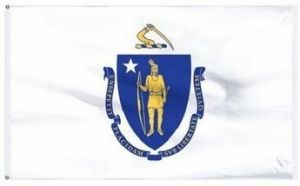 Economy Printed Massachusetts State Flags