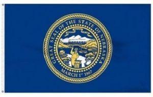 Economy Printed Nebraska State Flags