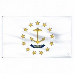 Economy Printed Rhode Island State Flags