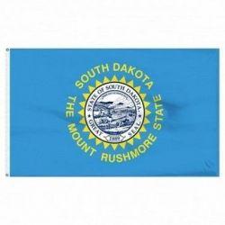 Economy Printed South Dakota State Flags