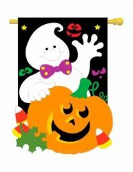Friendly Ghost Garden Banner