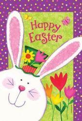 Happy Easter Bunny Garden Flag