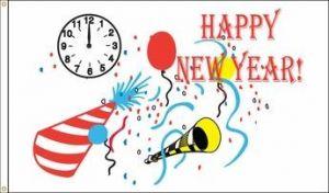 Happy New Year Flag