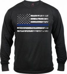 Long Sleeve Thin Blue Line T-Shirt