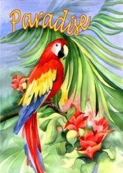 Macaw Paradise Garden Flag