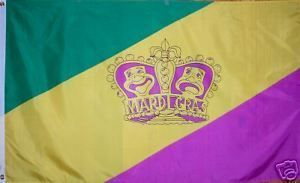 Mardi Gras Comedy and Tragedy Flag