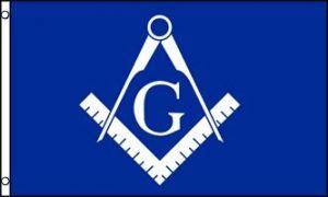 Masonic Flag - Blue & White