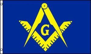 Masonic Flag - Blue & Yellow