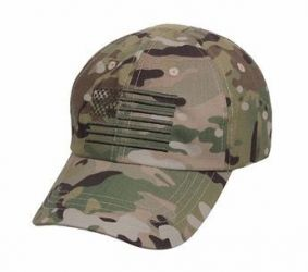 Multicam Tactical Operator Cap with US Flag