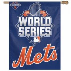 NY Mets 2015 National League Champions Banner - 27 in X 37 in