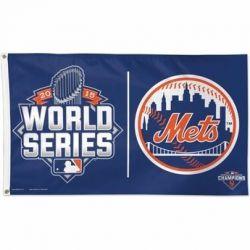 NY Mets 2015 World Series Flag - 3 ft X 5 ft