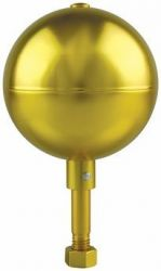 Gold Aluminum Ball Outdoor Flagpole Ornament