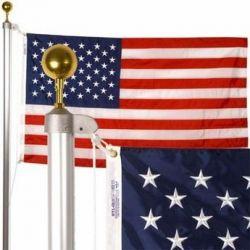 Patriot Residential Aluminum Flagpole Set - 20 ft