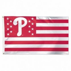 Philadelphia Phillies Stars and Stripes Flag