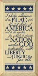 Pledge of Allegiance Decorative Plaque