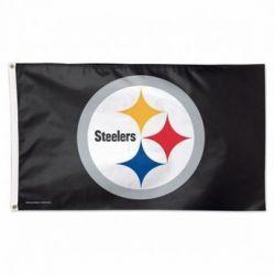 Premium Pittsburgh Steelers Logo Flag - 3 ft X 5 ft