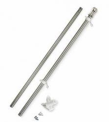 Polished Steel Tint Flagpole Kit