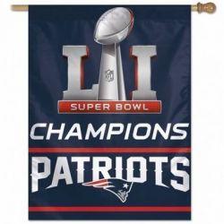 Super Bowl Champions New England Patriots Vertical Flag