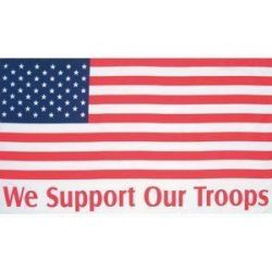 Support Our Troops - US Flag