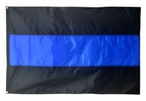 Heavyweight Nylon Thin Blue Line Flag