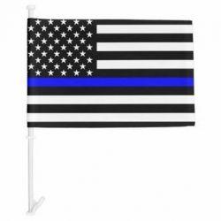Thin Blue Line US - Car Flag