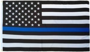 Lightweight Printed Thin Blue Line US Flag