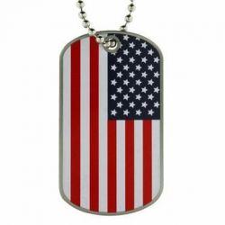 US Flag Dog Tag