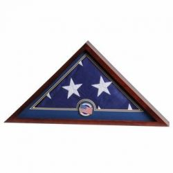 US Flag Medallion Flag Display Case