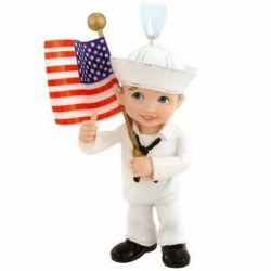 US Navy Kid Christmas Ornament