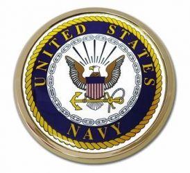 US Navy Seal Chrome Auto Emblem