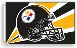 Pittsburgh Steelers Helmet Flag - 3 ft X 5 ft
