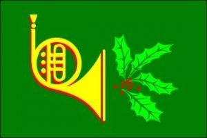 Holiday Horn Flag