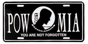 POW-MIA License Plate
