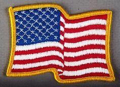 U.S. Waving Flag Patch (left hand version)
