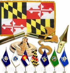 Indoor Mounted Maryland State Flag Sets
