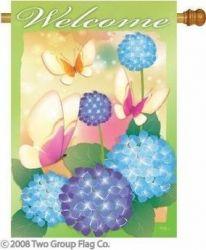 Welcome Butterflies Indoor/Outdoor Flag