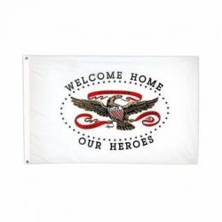 Welcome Home Our Heroes Flag