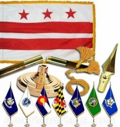 Indoor Mounted District of Columbia State Flag Sets