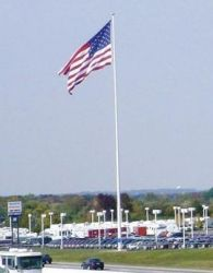 Steel Flagpole - Heavy Duty - 120 ft