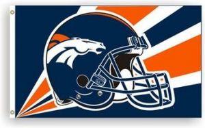 Denver Broncos Helmet Flag - 3 ft X 5 ft