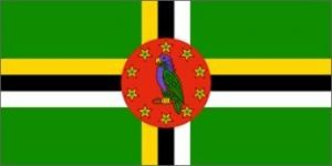 Nylon Dominica Flag - 4 ft X 6 ft