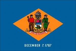 Economy Printed Delaware State Flags