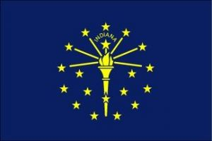 Economy Printed Indiana State Flags