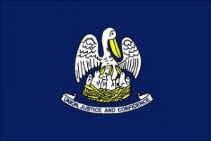 Economy Printed Louisiana State Flags