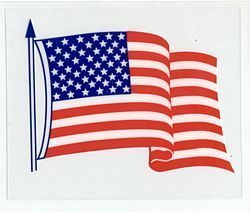 USA Static Cling Decals