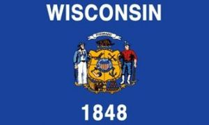 Economy Printed Wisconsin State Flags
