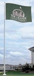 Fiberglass Flagpoles with Internal Halyards
